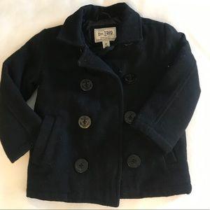 ✨Children's Place -Sz 4T- Black Boys Pea Coat ✨